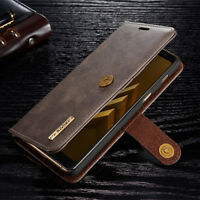 For Samsung S9+ plus Detachable Magnetic PU Leather Card Slots Wallet Case Cover
