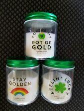 3 St. Patrick's Day jar scented candles Target Bullseye BP Lucky, Golden
