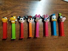 DISNEY Retired Pez set of 8 ~ Mickey x 2, Minnie x 2, Donald, Pluto x 2, Goofy