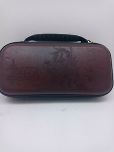 Nintendo Switch Leather Zip Carry Case ~ Legend of Zelda: Breath of the Wild