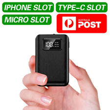 2020 Mini Power Bank 3 Slot Lightning Type C Micro Portable Battery Charger