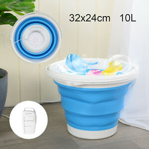 Mini Folding Washing Machine Laundry Tub Portable Automatic Washing Bucket UK