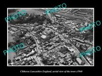 OLD LARGE HISTORIC PHOTO OF CLITHEROE ENGLAND, AERIAL VIEW OF THE TOWN c1940 2