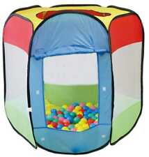 Childrens Pop Up Role Play Tent  & 100 Balls Indoor Outdoor Ball Pit Garden Game