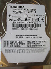 "320 Go Toshiba mk3265gsx gj001q ku9 hdd2h83 2,5"" Disco rigido 010 a0 EC. A"