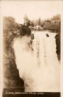 Vintage Real Photo Postcard Seattle Washington Snoqualmie Falls  pb10