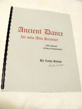 Ancient Dance for solo ALTO RECORDER with opt. guitar acc. by Linda Swope