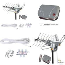 LAVA HD2605 Outdoor HD TV Antenna Remote Controlled Rotation Long Range 4K...
