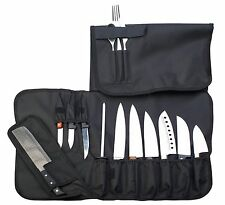 Chef Knife Roll Up Storage Bag (14 Slots) - Includes Handle and Shoulder Strap