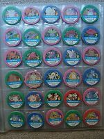 POKEMON extremely rare collection of 144 tazos pogs Greek Edition 1998 in album