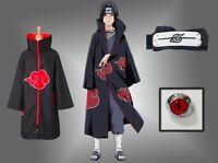Akatsuki Uchiha Itachi Cloak Anime Cosplay Costume ninja NARUTO Unisex