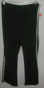 NWT SJB Performance Pull On Black & Mint Stripe Athletic Pants Size XL Petite
