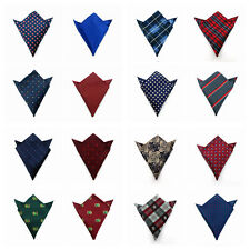 Fashion Men Pocket Square Hankerchiefs Satin Paisley Floral Hanky Wedding Gift