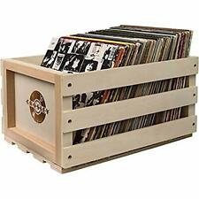 New listing Crosley AC1004A-NA Record Storage Crate Holds up to 75 Albums, Natural