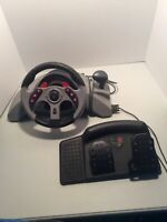Playstation Mad Catz MC2 Racing Steering Wheel with Pedals item #8020