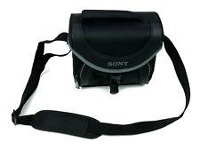 Sony LCS-X20 Camera Camcorder Soft Carrying Bag Black Adjustable Shoulder Strap