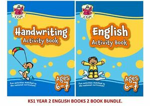 KS1 YEAR 2 ENGLISH & HANDWRITING ACTIVITY 2 BOOK FUN BUNDLE FOR AGES 6-7