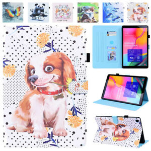 For Samsung Galaxy Tab A A7 S6 Lite S5e S7 Cute Pattern Leather Stand Case Cover