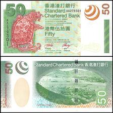 Hong Kong 50 Dollars, 2003, P-292, UNC, SBC