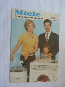 Miele Einkaufsempfehlungen, Katalog, Prospekt 16 S., 1961