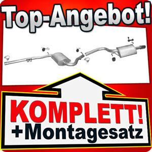 Auspuff AUDI A4 (B6 B7) 2.0 130PS Stufenheck & Kombi Avant Auspuffanlage 840