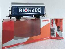 "Märklin/Primex HO_44198, 2 Axle Reefer Car with ""BIONADE"" inscript"