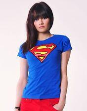 Superman T-shirt Round Neck Royal Blue (Size XL)(KS)