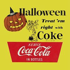 Halloween Coke Coca cola vintage High Quality Metal Magnet 4 x 4 inches 9294