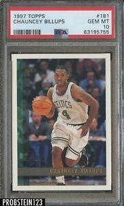 1997-98 Topps #181 Chauncey Billups Boston Celtics RC Rookie PSA 10 GEM MINT