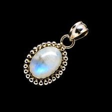 "Rainbow Moonstone 925 Sterling Silver Pendant 1 1/8"" Ana Co Jewelry P719687F"