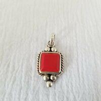 Vintage Estate SE Sterling Silver 925 Red Jasper Pendant