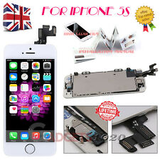 For iPhone 5S Apple Touch Screen LCD Digitizer Replacement + Home Button White