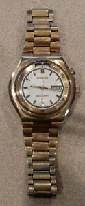 Vintage Seiko Automatic Bell-Matic Day Date Alarm Watch 4006-6040