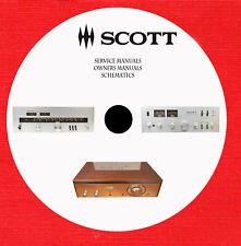 H.H.Scott Audio Repair Service schematics owner manuals on 1 dvd in pdf format
