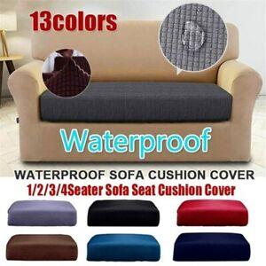 1/2/3 Seater Waterproof Corduroy Sofa Cover Elastic Cushion Covers Protector