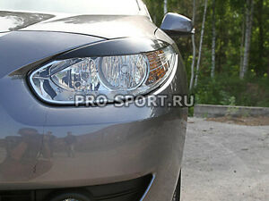Renault Fluence 2009-2012 eye brow, eyelids, cilia head lights, pair