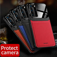 For Huawei P40 P30 Mate 30 Pro Lite Luxury Leather Hybrid Ultra Slim Case Cover