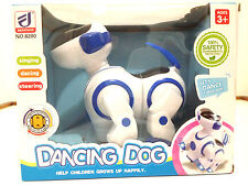 Electronic Robot Interactive Dog Puppy Walk Bump Go Lights Music Tail Swing Blue