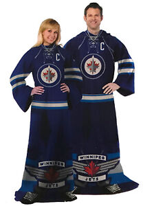 NHL Comfy Throw, The Blanket With Sleeves, Winnipeg Jets