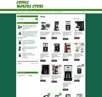 FULLY STOCKED COFFEE MAKERS STORE WEBSITE WITH 1 YEARS HOSTING & DOMAIN