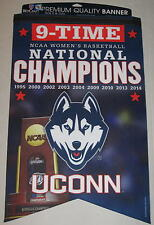 UConn Huskies Womens Basketball Banner 2014 9-Time National Champions