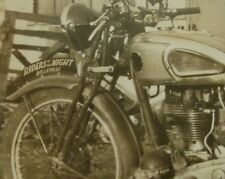 ORIGINAL 1940s BSA Motorcycle Picture Photo Riders of Night Canada Gang fender