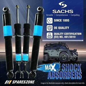 Front + Rear Sachs Max Shock Absorbers for Jeep Grand Cherokee WH Wagon 05-11