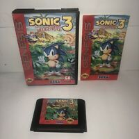 DISCOUNTED Sonic The Hedgehog 3 Sega Genesis SAVES! - COMPLETE CIB Manual Damage