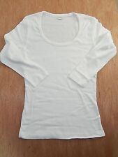 WOMEN 3/4 SLEEVE 100% COTTON SCOOP NECK FITTED STRETCH T SHIRT MISSES PLUS S-XL