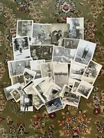 #7 Lot of 40 Vintage Black and White Photographs Snapshots