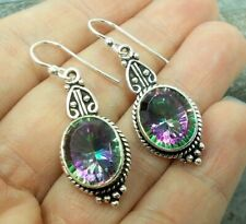 925 Silver MYSTIC TOPAZ Earrings E447~Silverwave*uk Jewellery