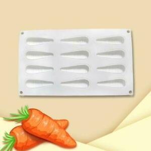 12 Cavity 3D Carrot Bunny Silicone Mold for Baking Chocolate Mousse Cake Mould