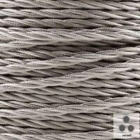 Textilkabel, Lampenkabel Stoffkabel, Silber 3 x 0,75²mm verseilt (Meterware)