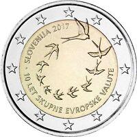 Slowenien 2 Euro 2017 Einführung der Euro Münzen und Banknoten 2007 bankfrisch